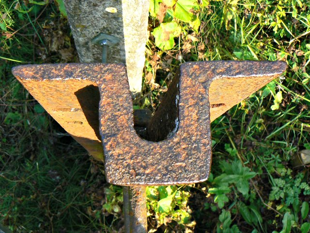 Recycled rail, stile, railway, north of Ram Alley, Wiltshire