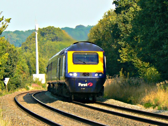 'Down' First Great Western High Speed Train, north of Ram Alley, Wiltshire