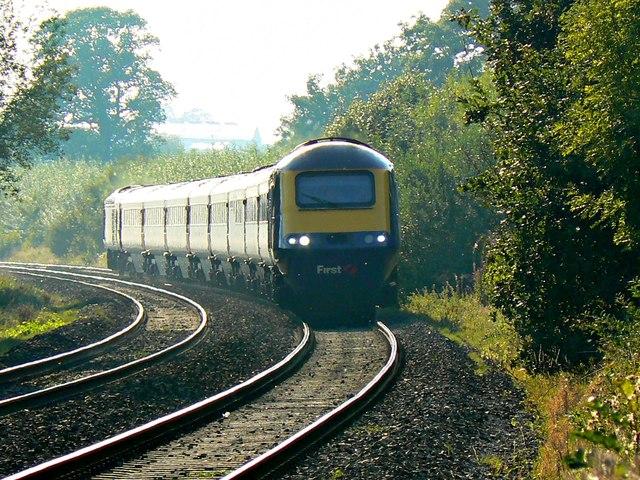 'Up' First Great Western High Speed Train, near Brimslade, Wiltshire