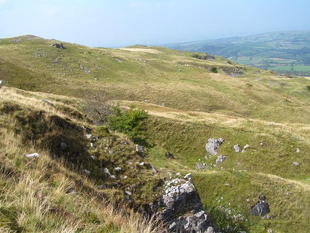 Hillside below Pen Rhiw-ddu