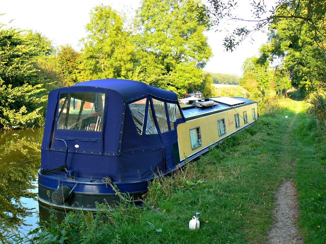 Narrowboat 'After 'ours'', Kennet and Avon Canal, east of Cadley Lock, Wiltshire