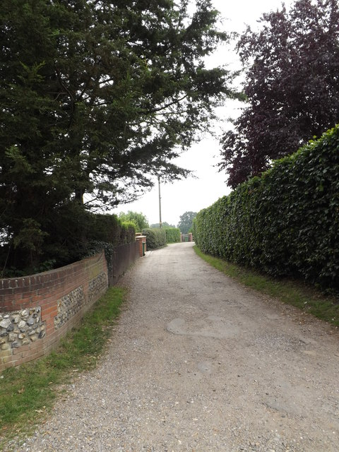 The Loke & footpath to the Recreation Ground