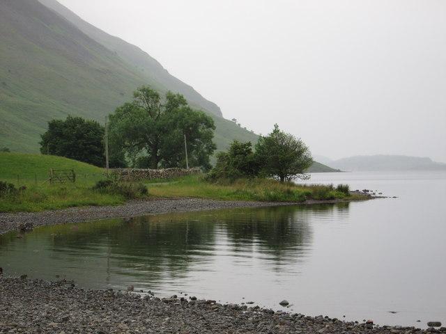 Wastwater shoreline view