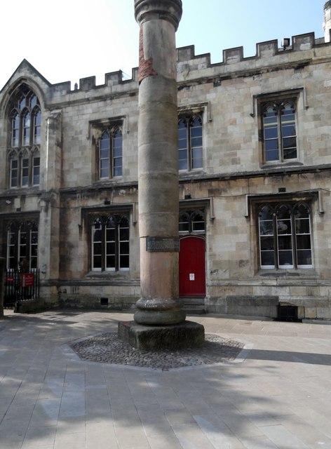 Roman Column outside York Minster