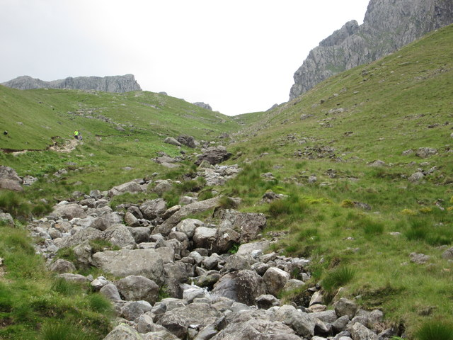 Steep path up Brown Tongue