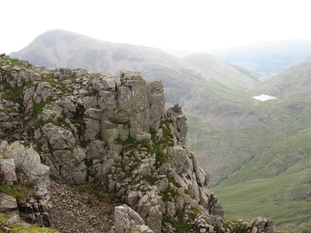 Great Gable and Styhead Tarn from Lingmell