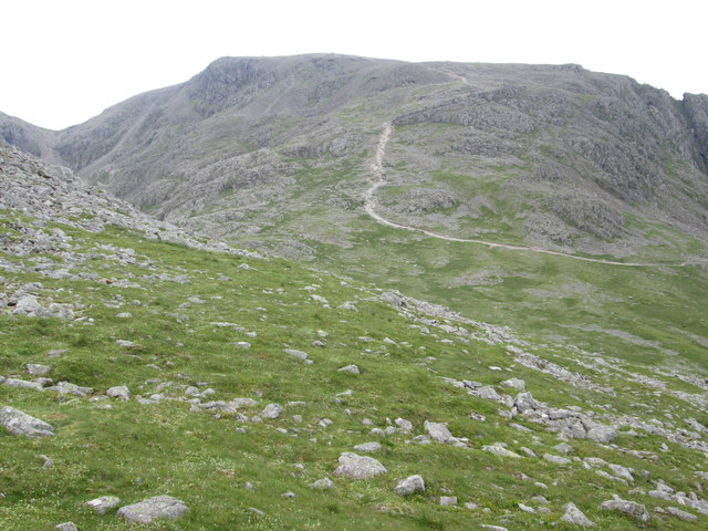 View across Lingmell Col