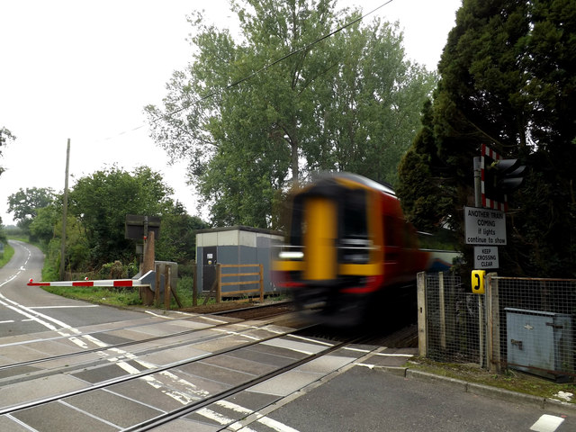 Train at Intwood Road Crossing