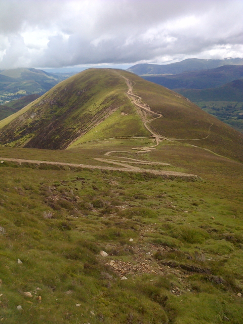 Path up Causey Pike