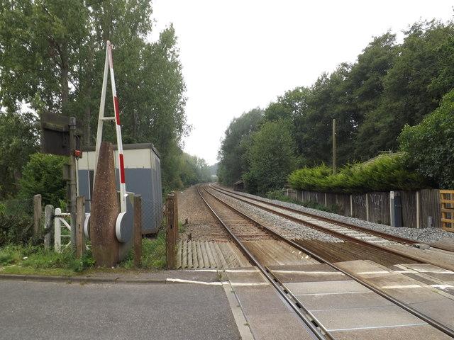 Railway Line at Intwood Road Crossing