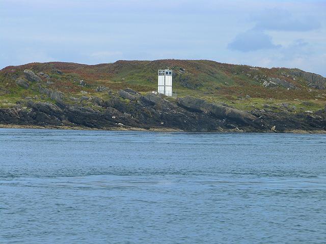 Navigation light on Rèisa an t-Struith