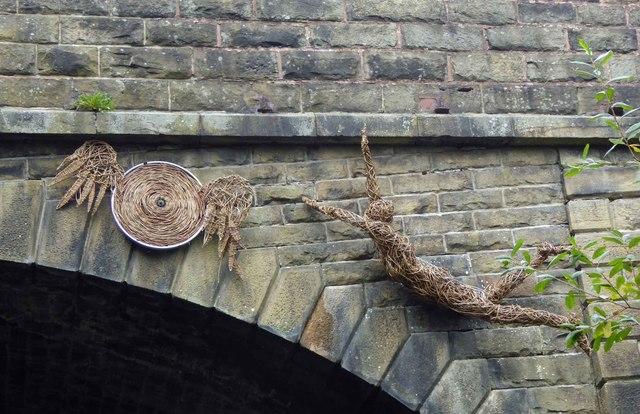 TPT art on Ecklands Bridge