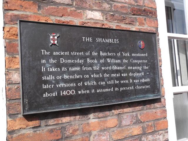 Information plaque, The Shambles