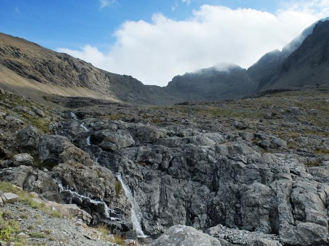 Waterfall above Coire a' Ghreadaidh
