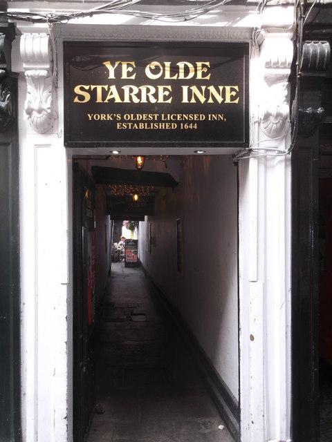 Ye Olde Starre Inne, Stonegate, York