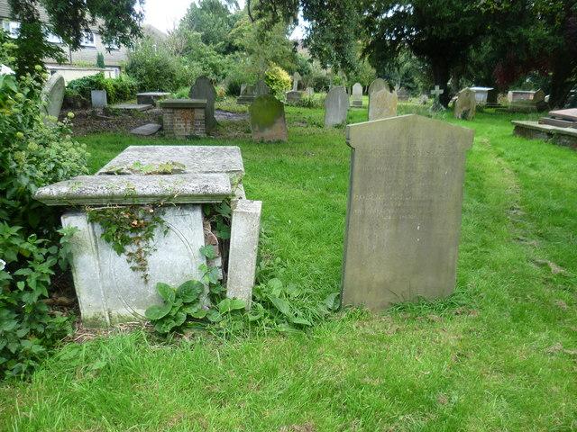 In St Matthew's Churchyard, Ashford