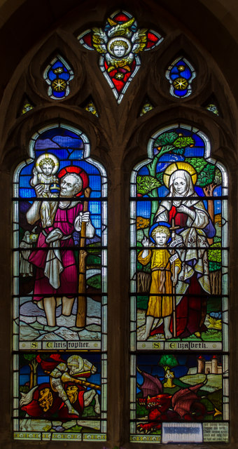 Stained glass window, St Mary Magdalene church, St Leonards