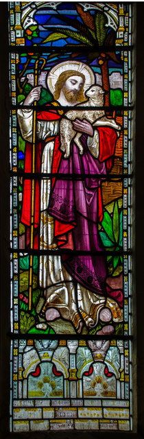 Stained glass window, St Mary Magdalene church, St Leonards on Sea