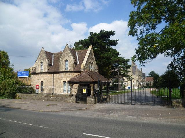 Entrance to St James School for Senior Boys