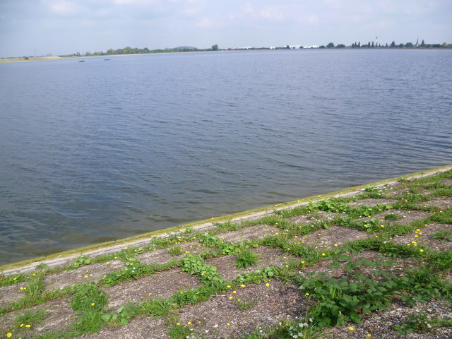 View across the northern Staines Reservoir