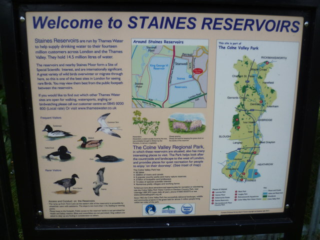Welcome to Staines Reservoirs