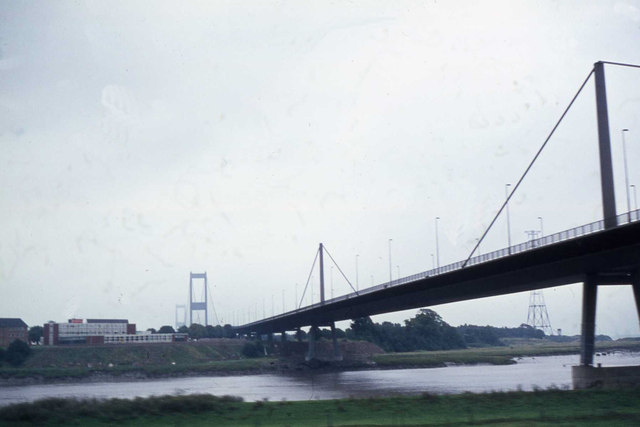 The M48 Wye bridge from the train