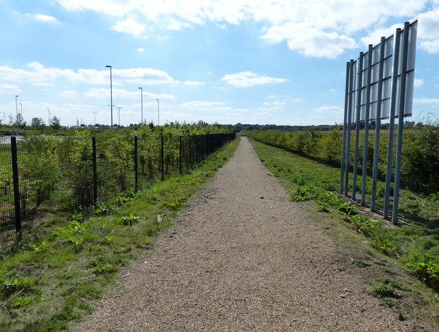 The Fosse Way next to Enderby Park & Ride