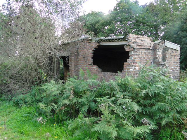 Derelict military building