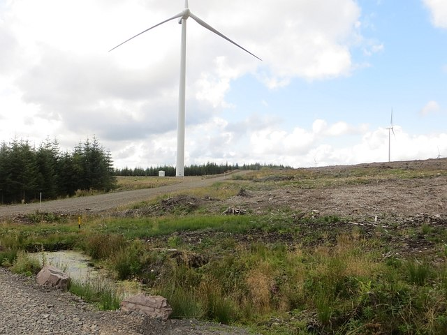 Wind turbines, Forest of Ae