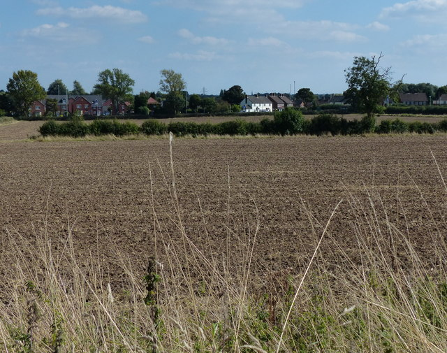Farmland next to the Fosse Way