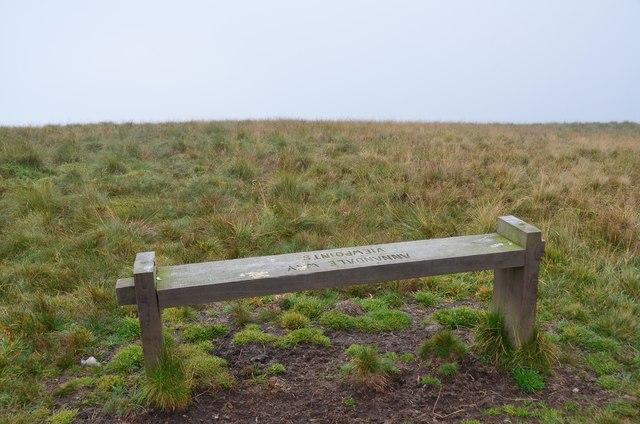 Viewpoint bench, Annanhead Hill