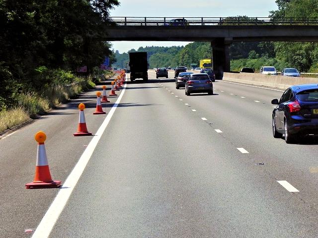Westbound M3, Minley Road Bridge