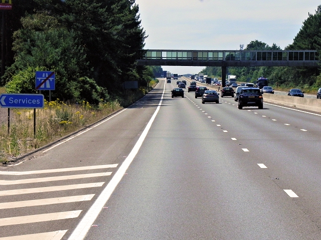 Westbound M3 at Fleet Services