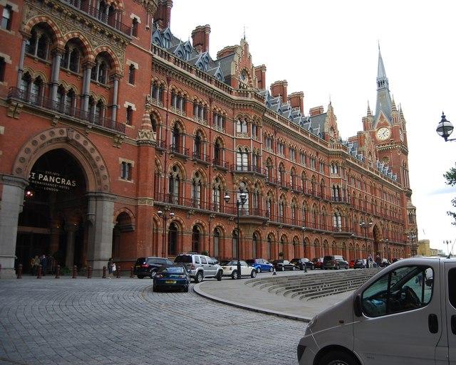 Facade of St Pancras Station