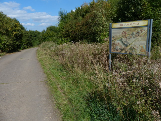 The Fosse Way information board