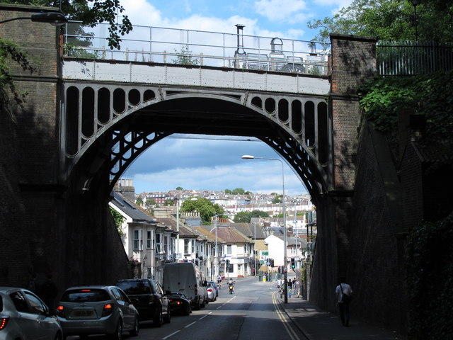 Former railway bridge over New England Road, BN1 (2)