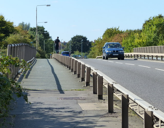 Blaby Road bridge in Enderby