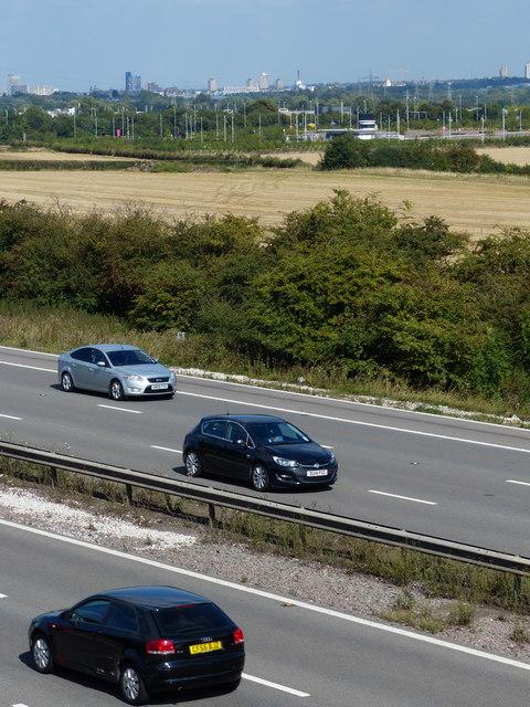 View across the M1 motorway