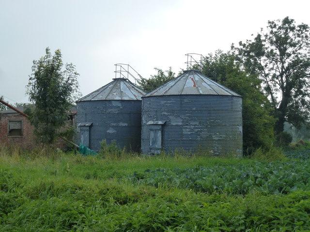 Old grain silos at Eaudike Farm