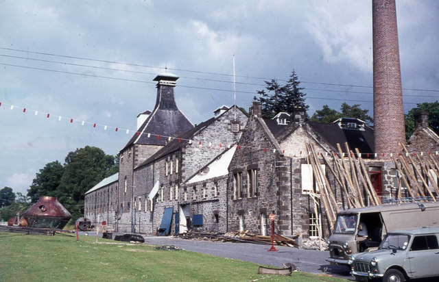 Aberfeldy Distillery undergoing refurbishment in 1973