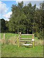 TL0841 : Stile on footpath to Church End Road by Philip Jeffrey