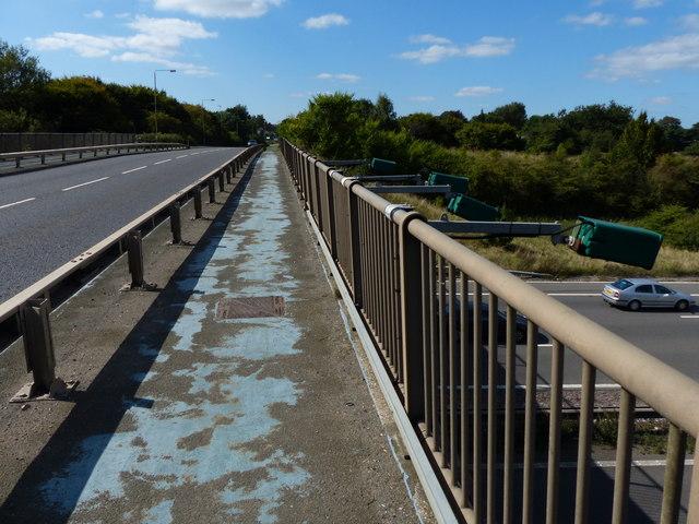 Blaby Road crossing the M1 motorway