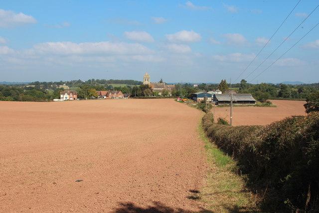 Field and footpath towards Church Lane