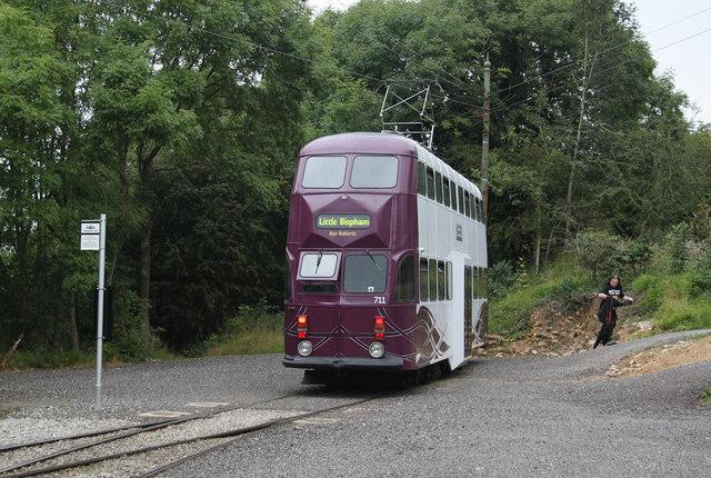 Blackpool 711 at Glory Mine terminus