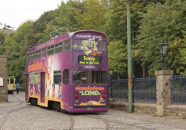 Blackpool 762 on the depot yard