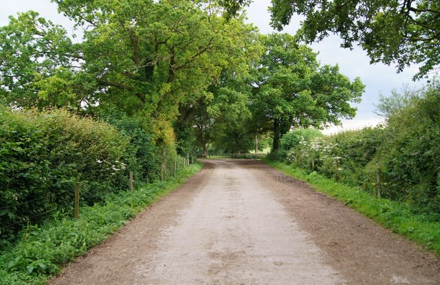 Footpath & paved farm track