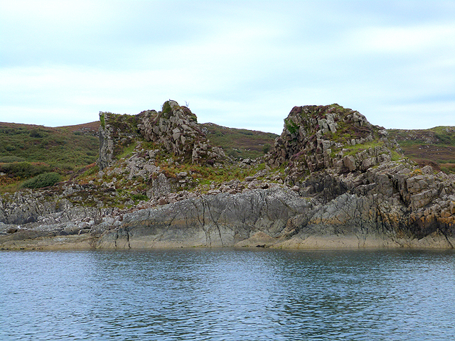 Two rocky pinnacles on Craignish Point