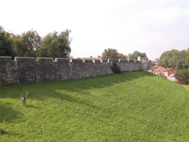 City wall, Jewbury, York