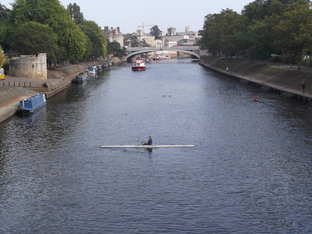 Rower on the Ouse, York