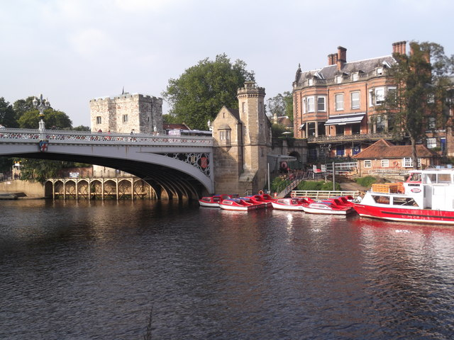 Boats and Lendal Bridge, York